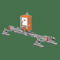 Der Cladboy VIAVAC CB4 mit einem Vakuumkreis stemmt sicher Dach- und Wandelemente.